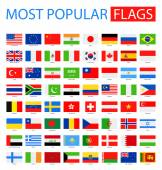 Most Popular Flags - Vector Collection.