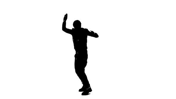 Tanzende Silhouette Mann