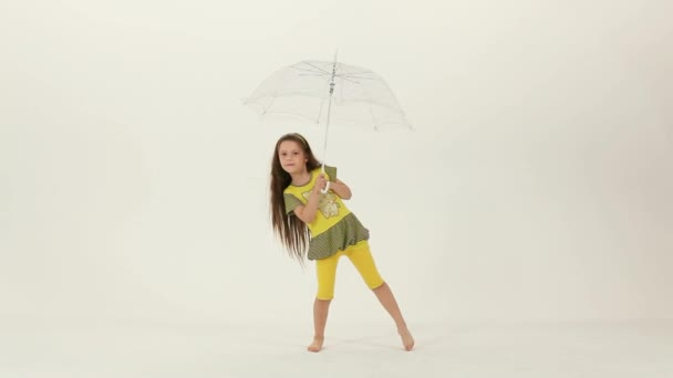 Dance With an Umbrella in the Studio.