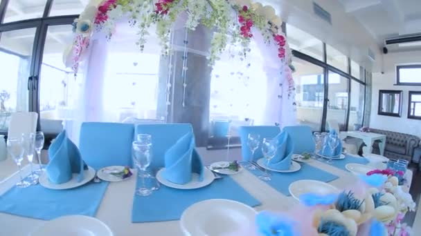 Colorful Decorations At Wedding Reception