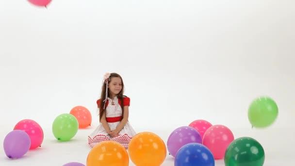 Dívka je šťastné bubliny