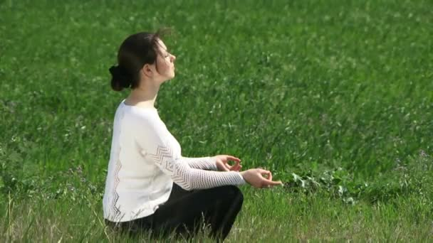 Woman Engaged In Meditation