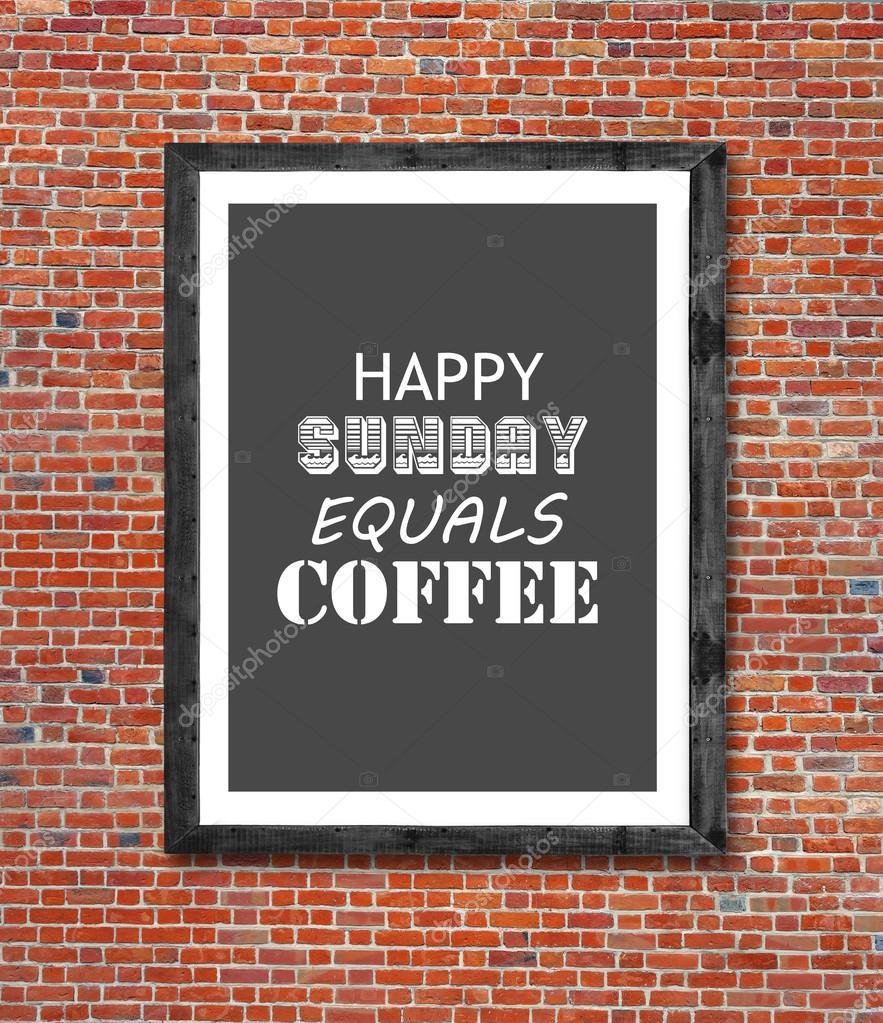 Gibt es ein Leben vor dem Kaffee geschrieben in Bilderrahmen ...
