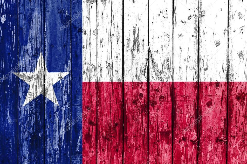 Flagge von Texas auf Holzrahmen gemalt — Stockfoto © Bennian #100606538