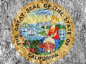 Zášť kámen nás maloval Kalifornie pečeť vlajky