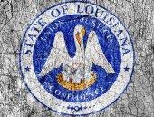 Zášť kámen nás maloval Louisiana pečeť vlajky