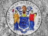 Zášť kámen nás maloval New Jersey pečeť vlajky