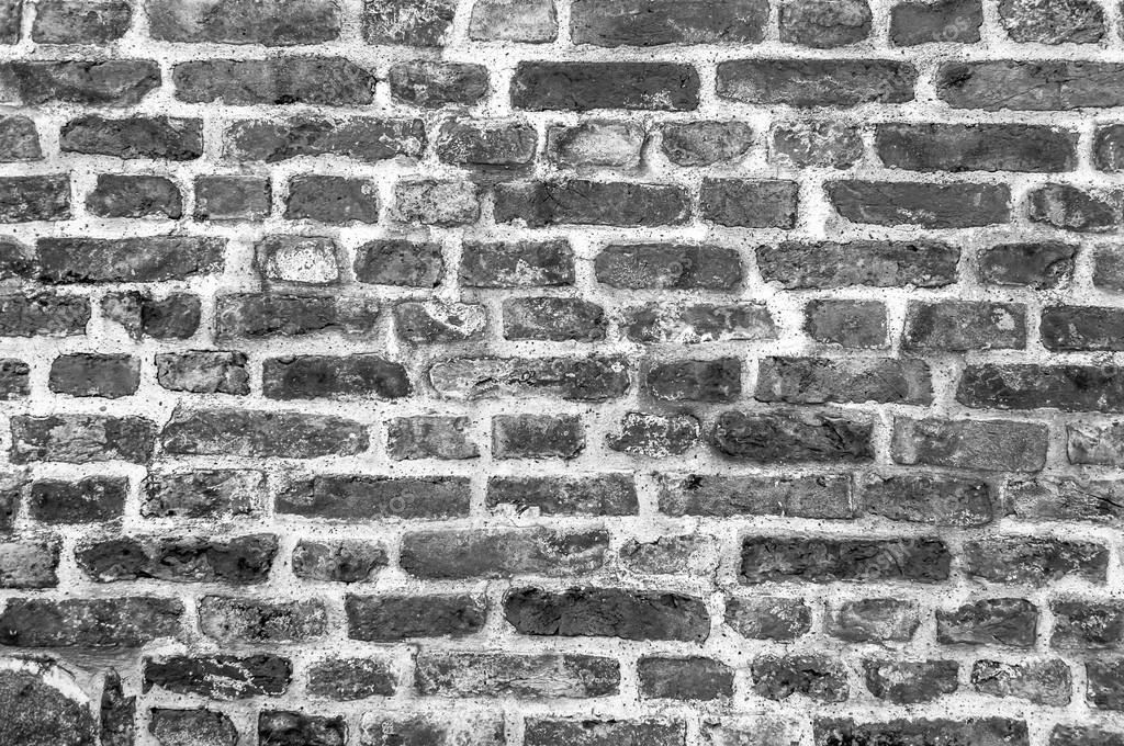 Czarno Białe Tło Starego Rocznika Cegła Mur Tła Zdjęcie
