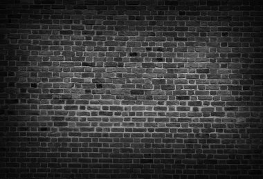 Black and white ackground of old vintage brick wall