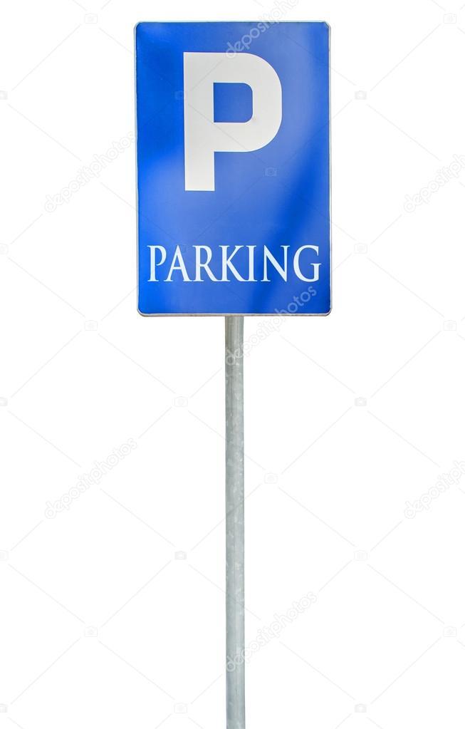 parking place signe panneau de signalisation trafic routier bleu isol photographie bennian. Black Bedroom Furniture Sets. Home Design Ideas