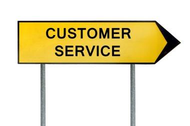 Yellow street concept customer service sign