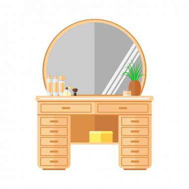 Dressing table. Furniture. Isolated object on a white background.