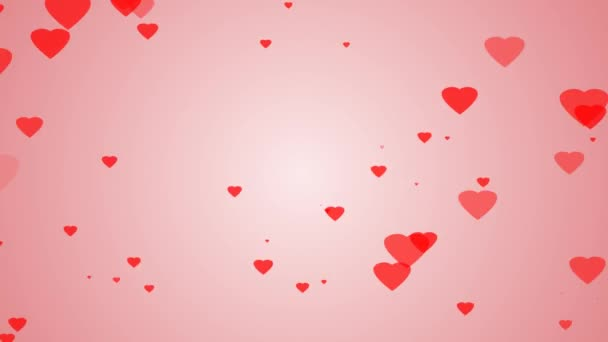 red heart and pink background