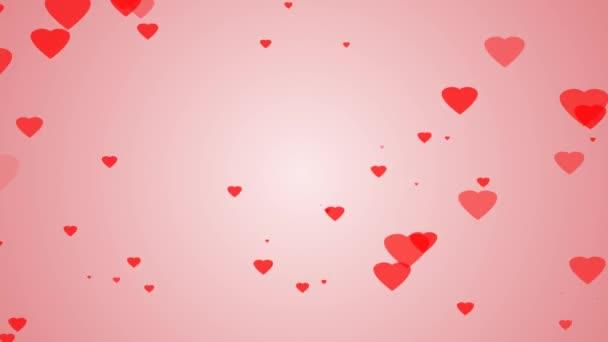 piros szív, és a rózsaszín háttér