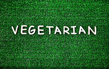 Vegetarian concept  on the grass