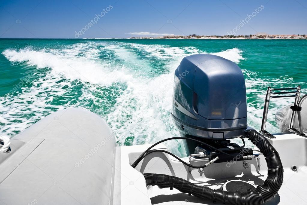Motor boar on the sea