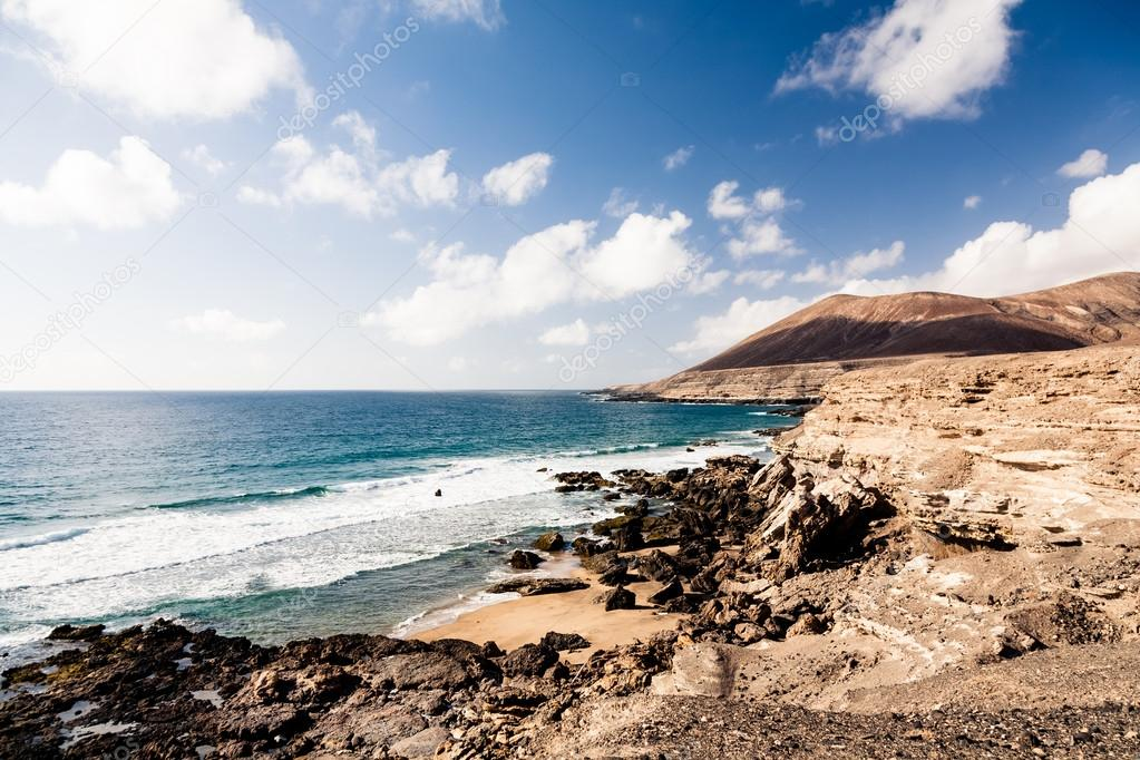 Landscape with sea in Fuerteventura