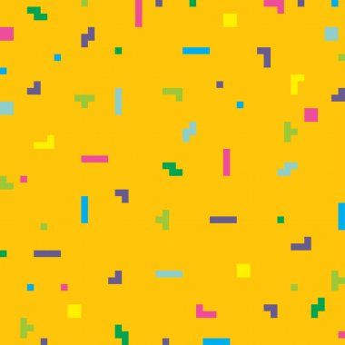 Vector abstract pixel art background