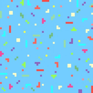 Vector abstract pixel art background template