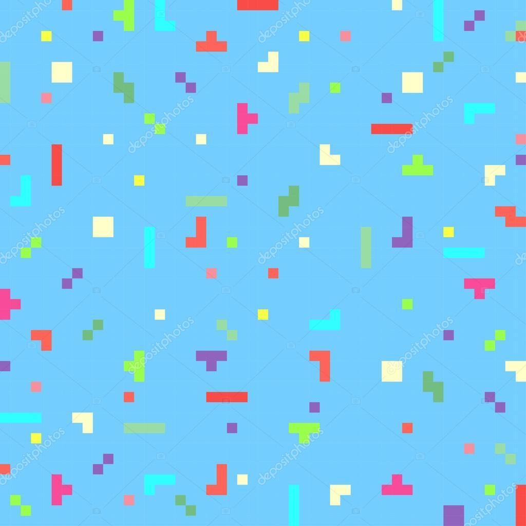 Vector abstracto pixel arte fondo plantilla — Vector de stock ...