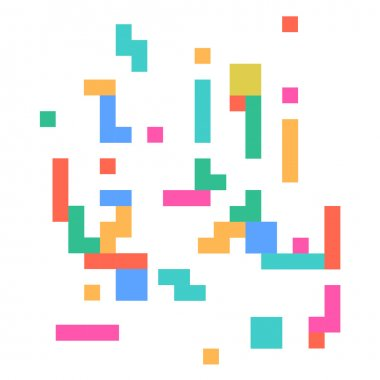 Vector cute abstract pixel art background