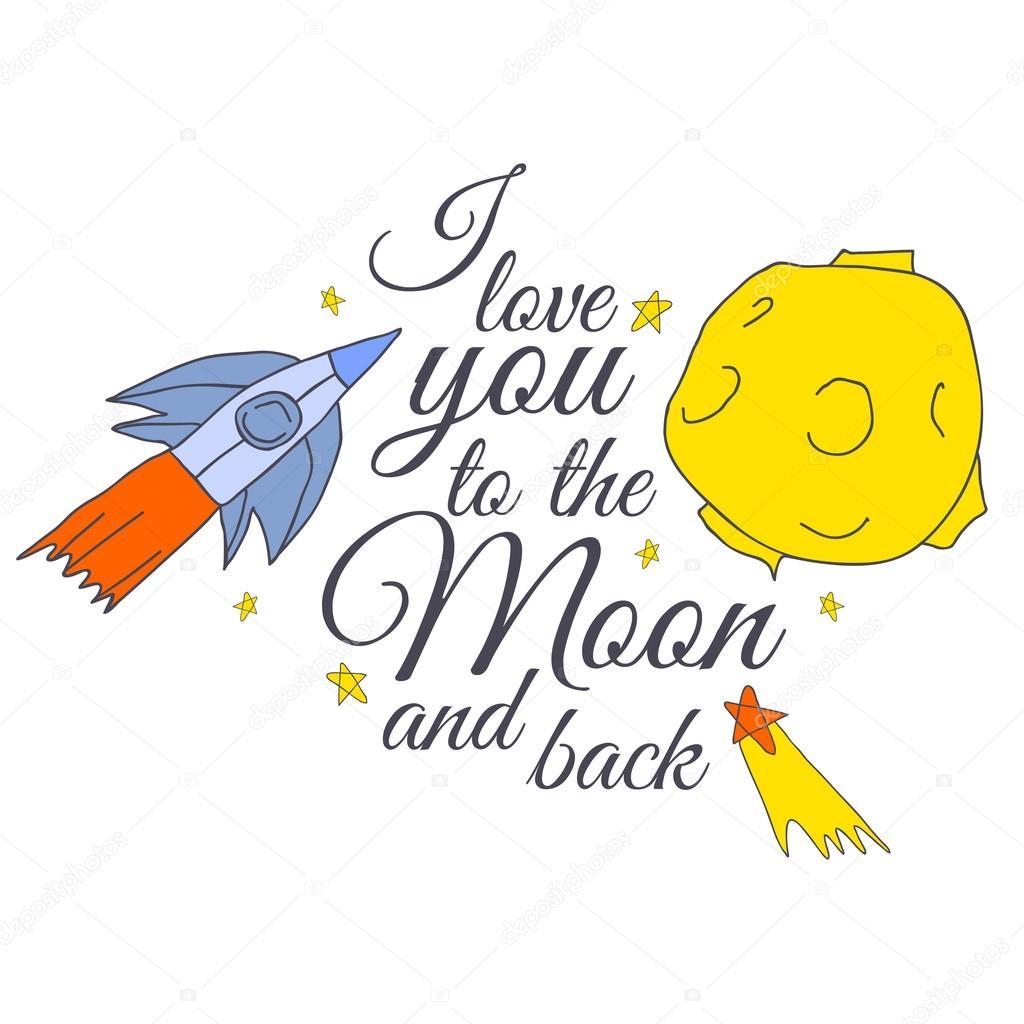 Vektor hübsch romantisch Hand Zeichnung Abbildung der Mond, Sterne ...