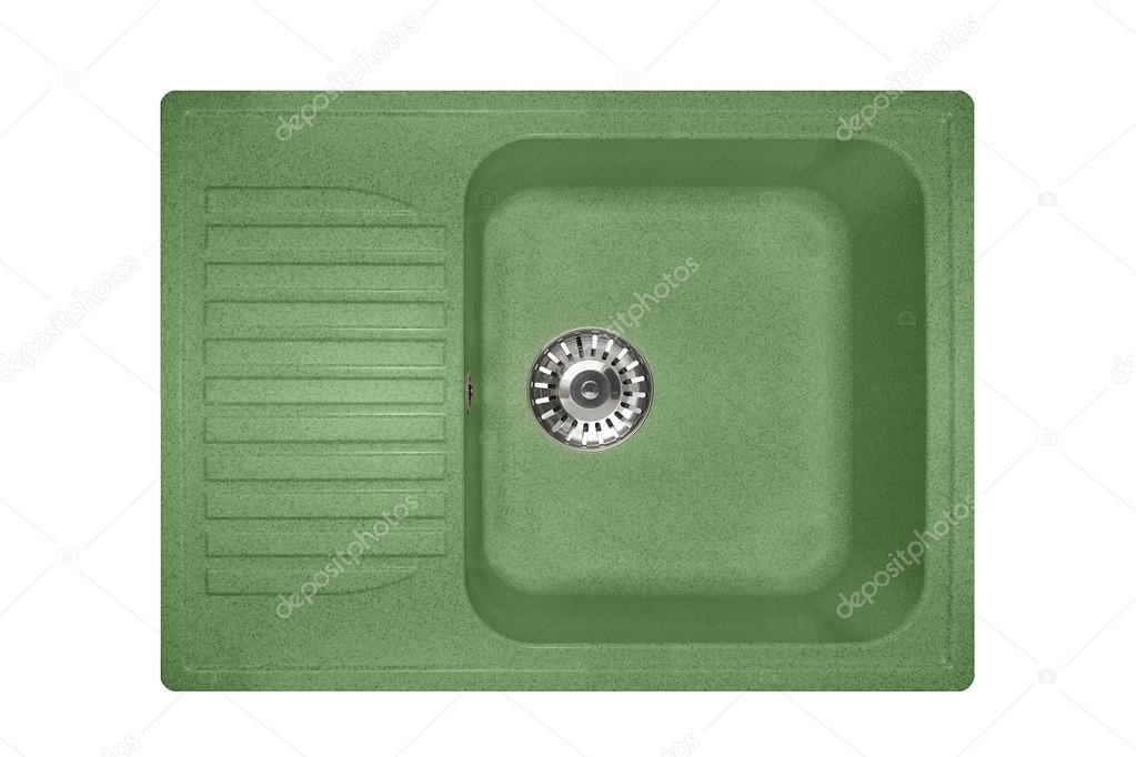Stein Waschbecken Einer Granitplatte Quadratisch In Gruner Farbe