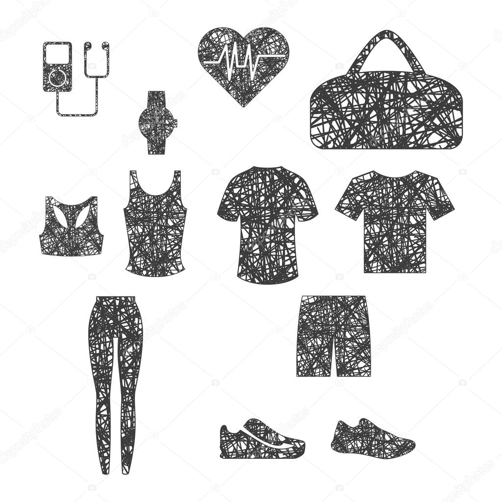 Clothing for training, and accessories