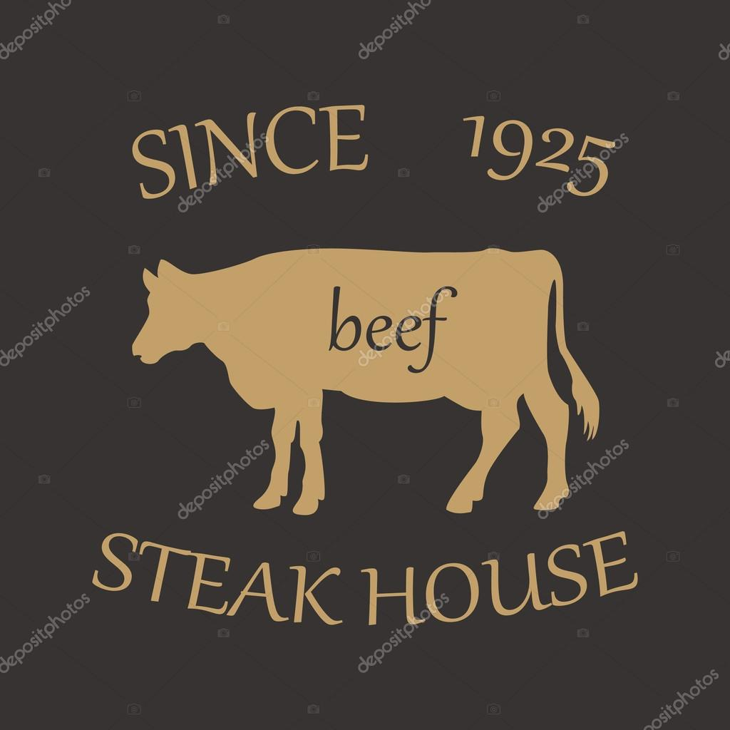 Steak House. The name and image of the beautiful and tasty place