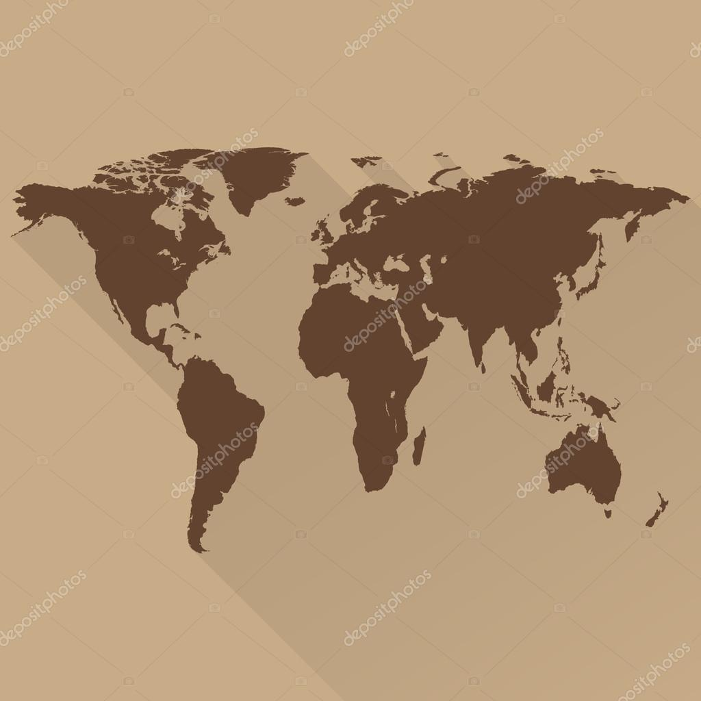 World map a flat design long shadow for web and mobile app world map a flat design long shadow for web and mobile app gumiabroncs Image collections