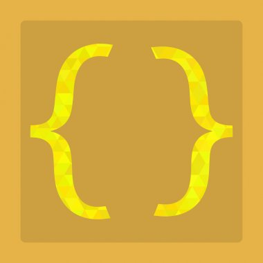 Abstract Creative concept vector icon of curly bracket for Web. stock