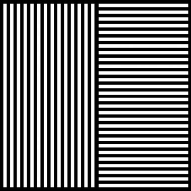 Stylish background of black and white stripes in different direction