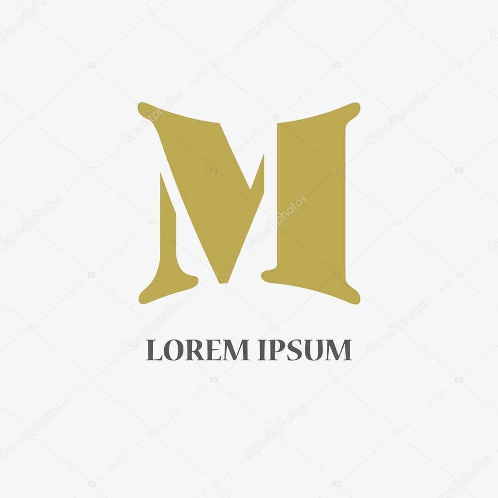 Letter m logo company name stylish gold design stock vector letter m logo company name stylish gold design stock vector stock vector buycottarizona