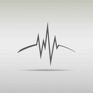 Heart beat, cardiogram, medical.  sound waves. company logo