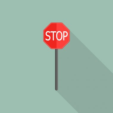 Stop Sign Icon for roads