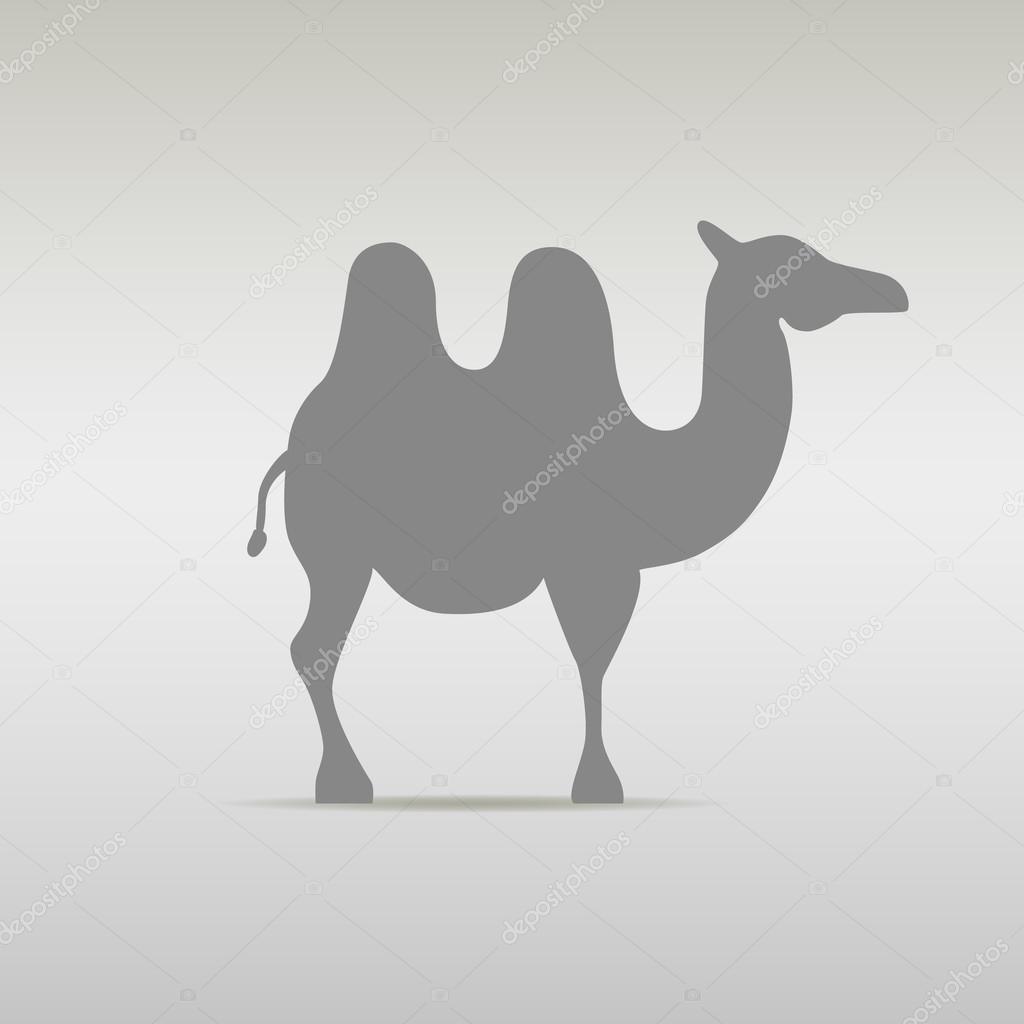 Camello silueta de plantilla de diseño de Logo. Viajes desierto ...