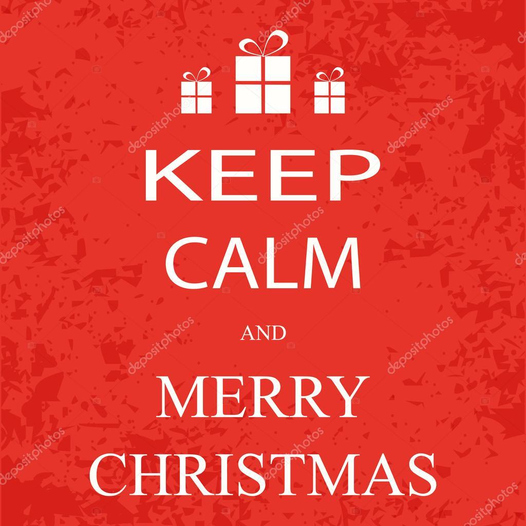banner, poster keep calm and merry christmas — Stock Vector © igoror ...