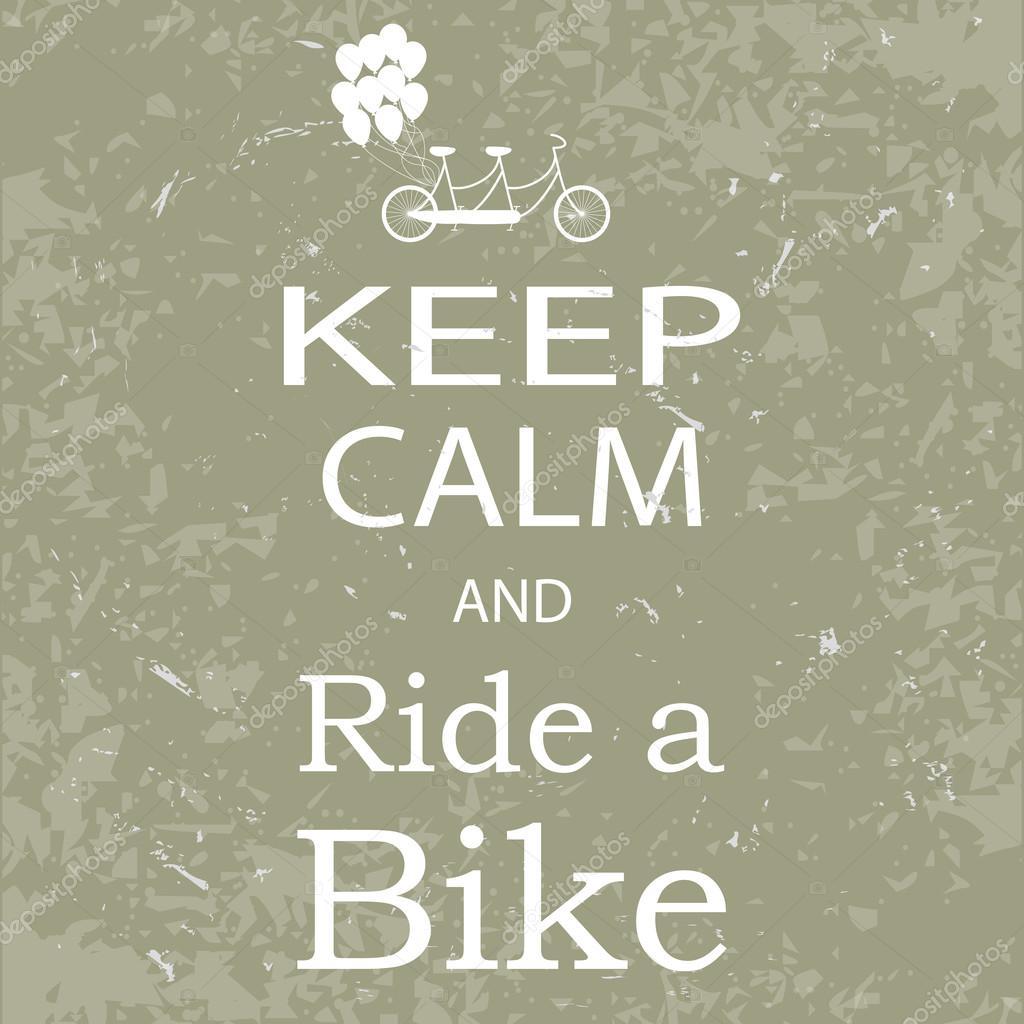 Banner keep calm and ride a bike