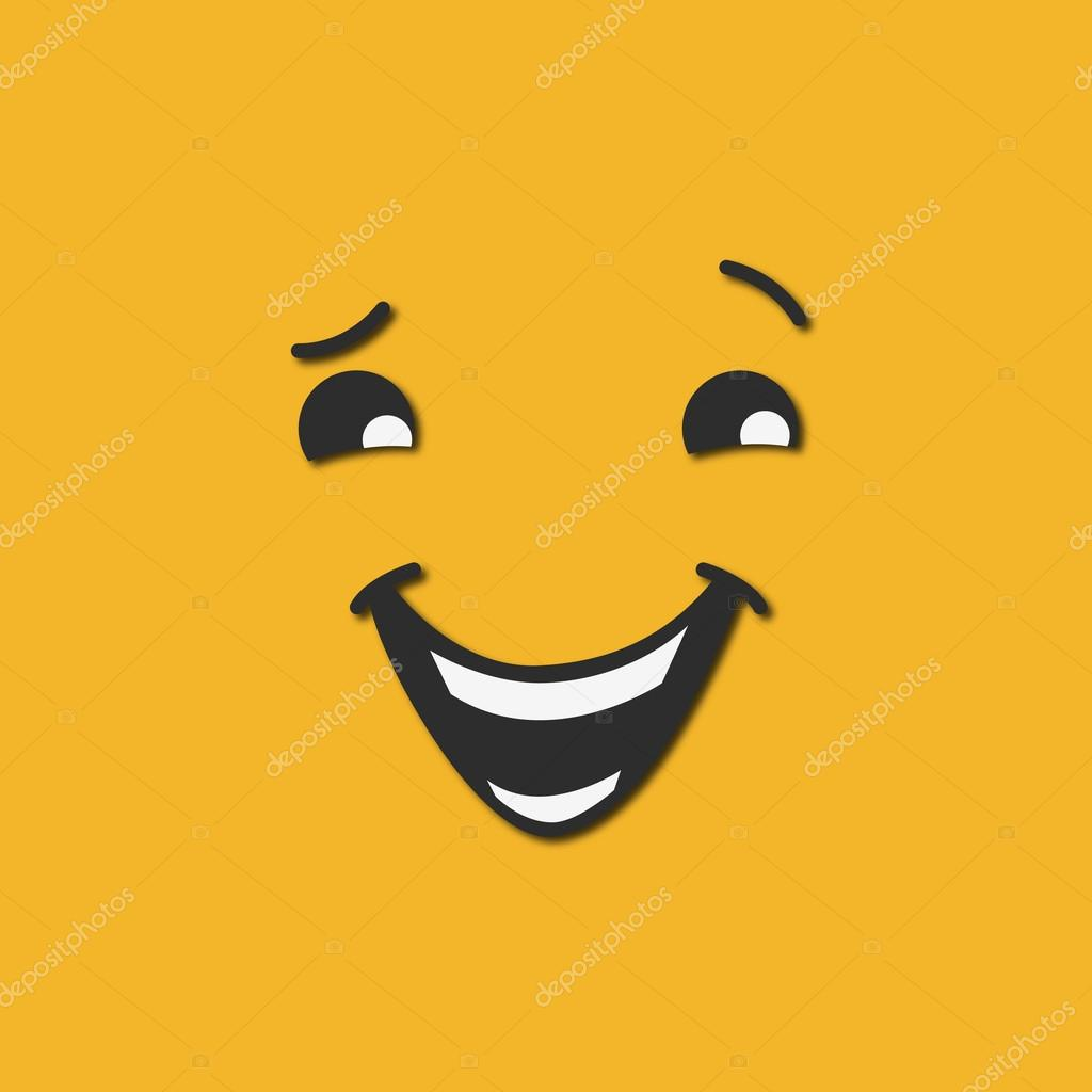 Abstract smiley illustration, icon logo, flat styles
