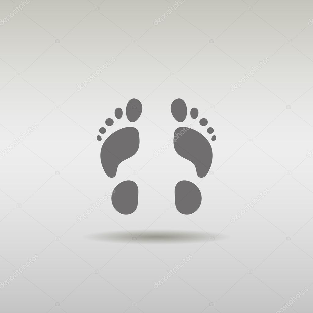 Foot male icon logo