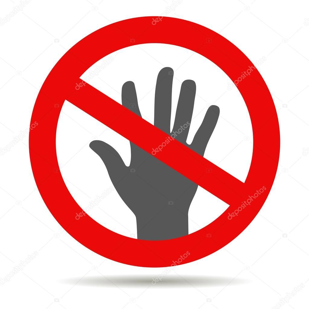 roten stopp hand symbol stockvektor 89362920 Vector EPS Files Vector EPS Files