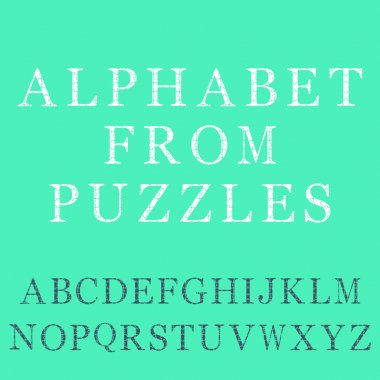 Alphabet from puzzles for web