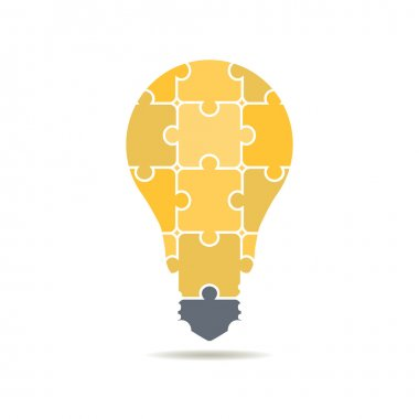 logo bulbs of puzzles