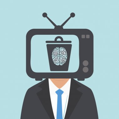 watching TV the human brain to become stupid