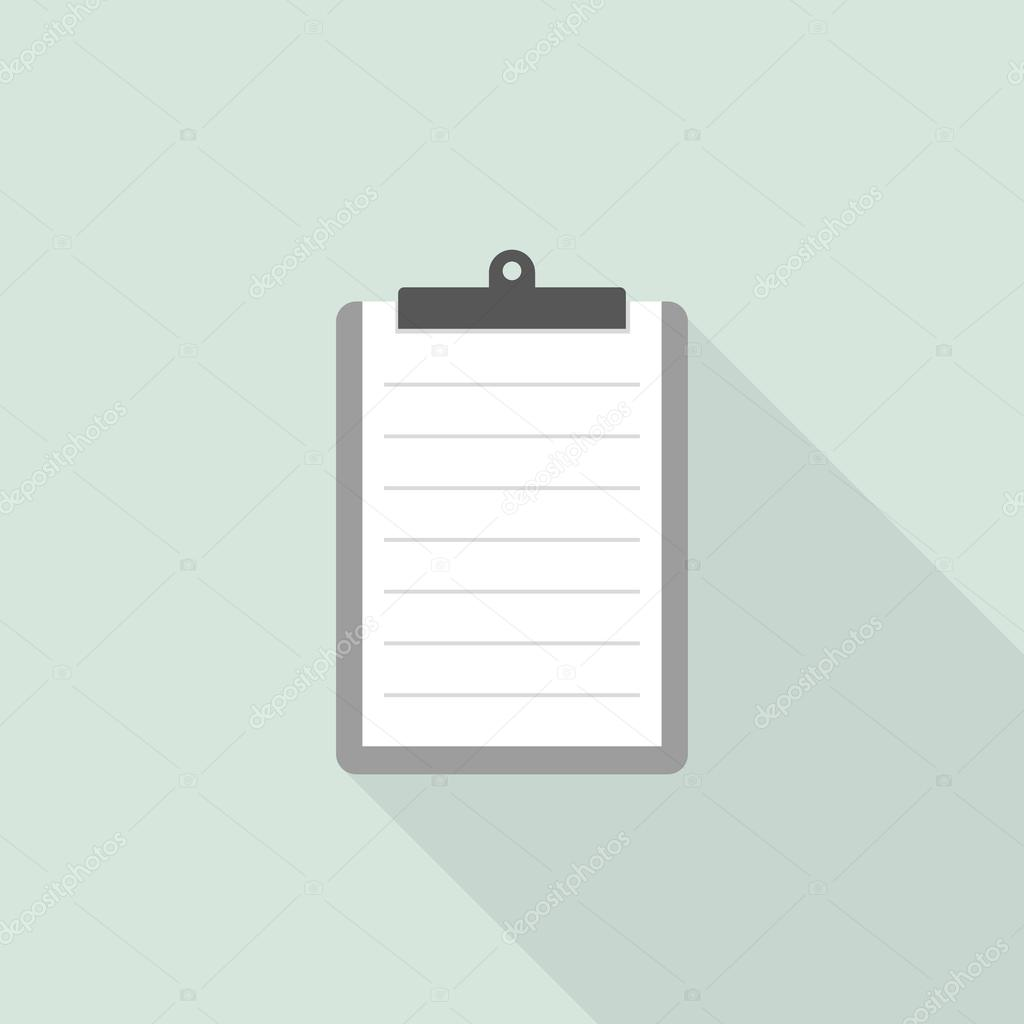 graphic about Blank Checklist known as Clipboard with blank list type Inventory Vector © igoror
