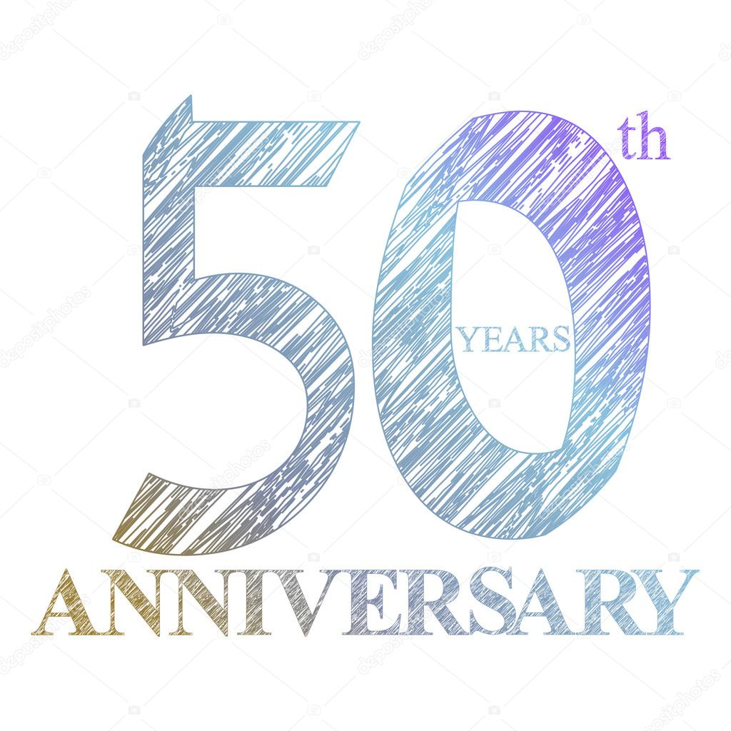 A painted the logo of the 50th anniversary with a circle. Number of years