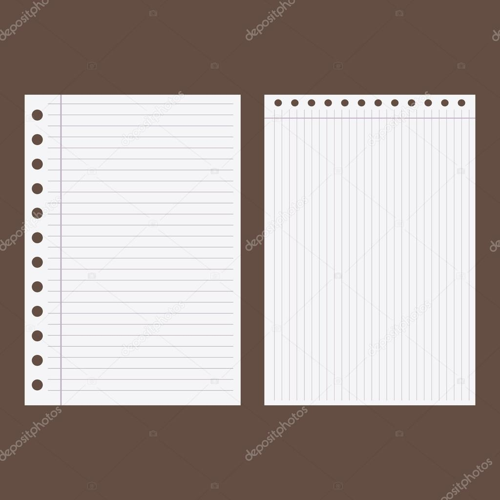 Set of Blank worksheet exercise book.