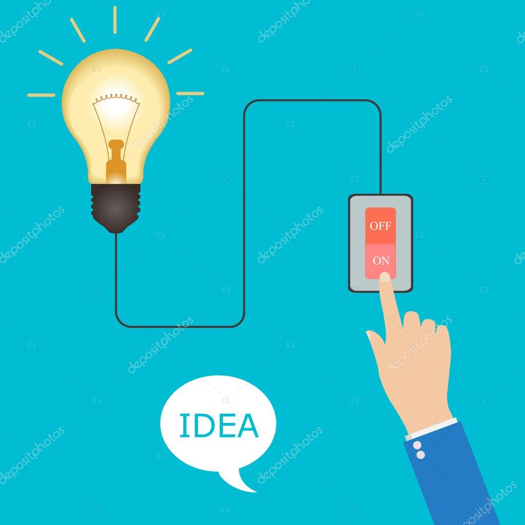 concept of big ideas inspiration innovation, invention, effective ...