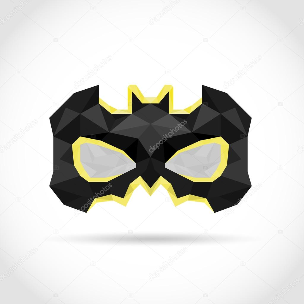 Mask Hero superhero low poly in triangles