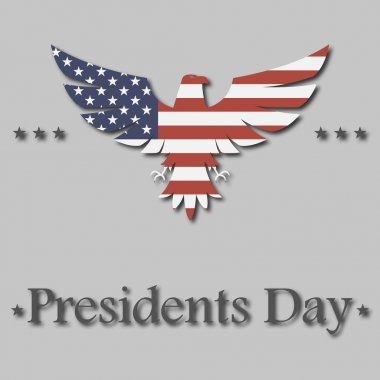 presidents day background. eagle in flag color